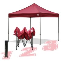 AbcCanopy 10x10 King Kong Burgundy Canopy Instant Shelter Outdor Party Tent Gazebo