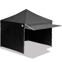 10x10 AbcCanopy Easy Pop up Canopy Tent Instant Shelter Deluxe Portable Market Canopy awning-Black