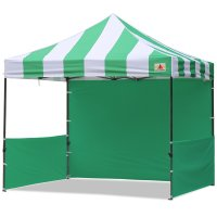 AbcCanopy Carnival 10x10 Green With Green Walls Pop Up Tent Trade Show Booth Canopy W/ Wheeled bag