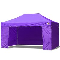 AbcCanopy 10x15 Deluxe Purple Package Tent With Roller Bag