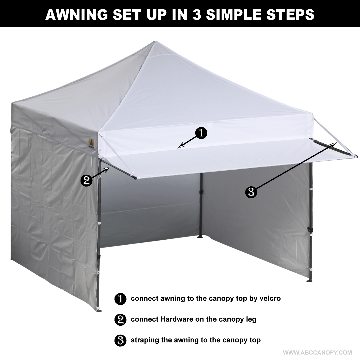 market p up deluxe abccanopy tent portable pop awning awninggray easy gray canopy instant shelter