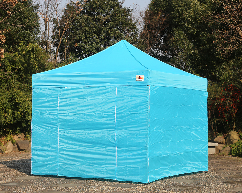 Abccanopy 10x10 Sky Blue Deluxe Ez Pop Up Canopy Package