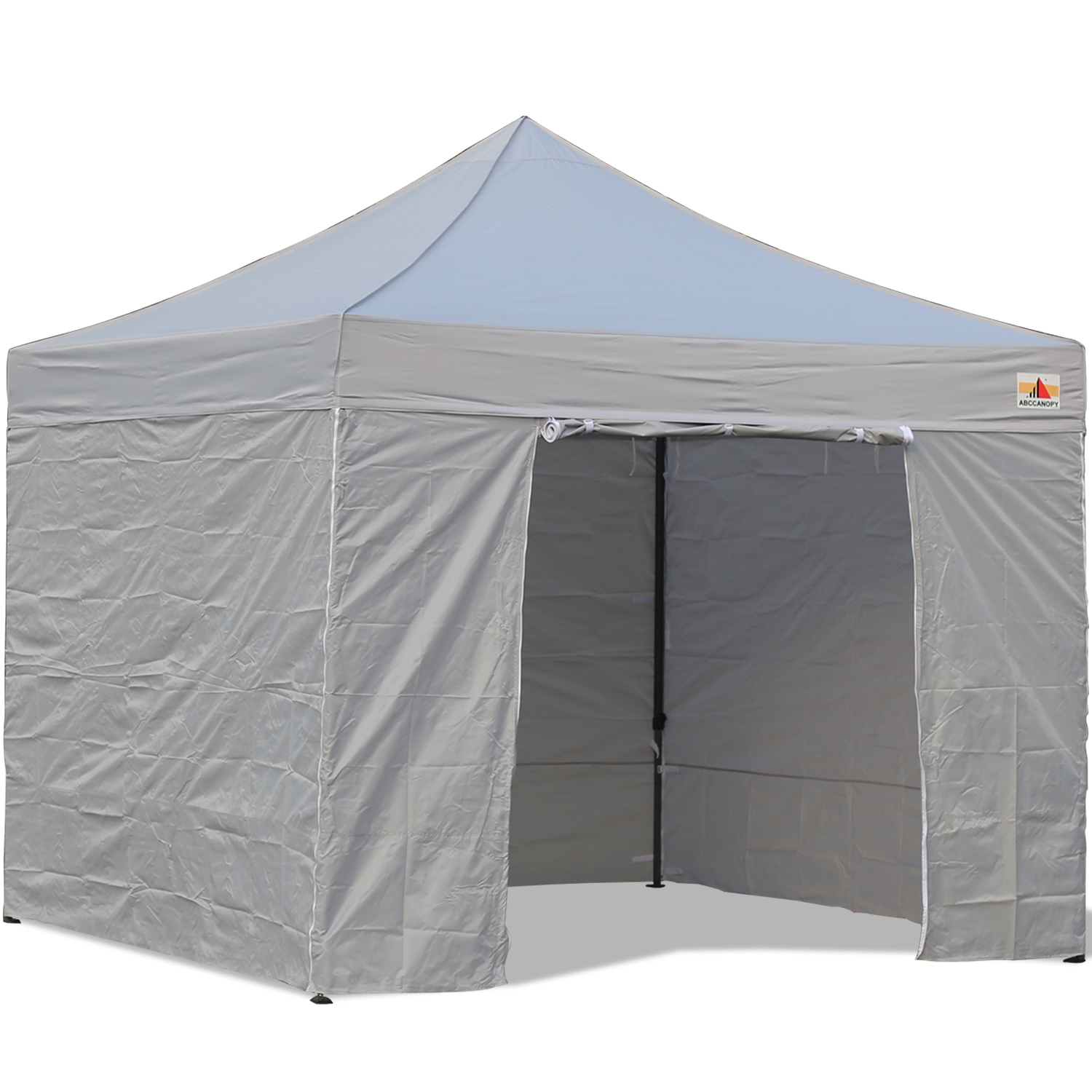 10x10 Canopy With Walls : Abccanopy gray deluxe ez pop up canopy package