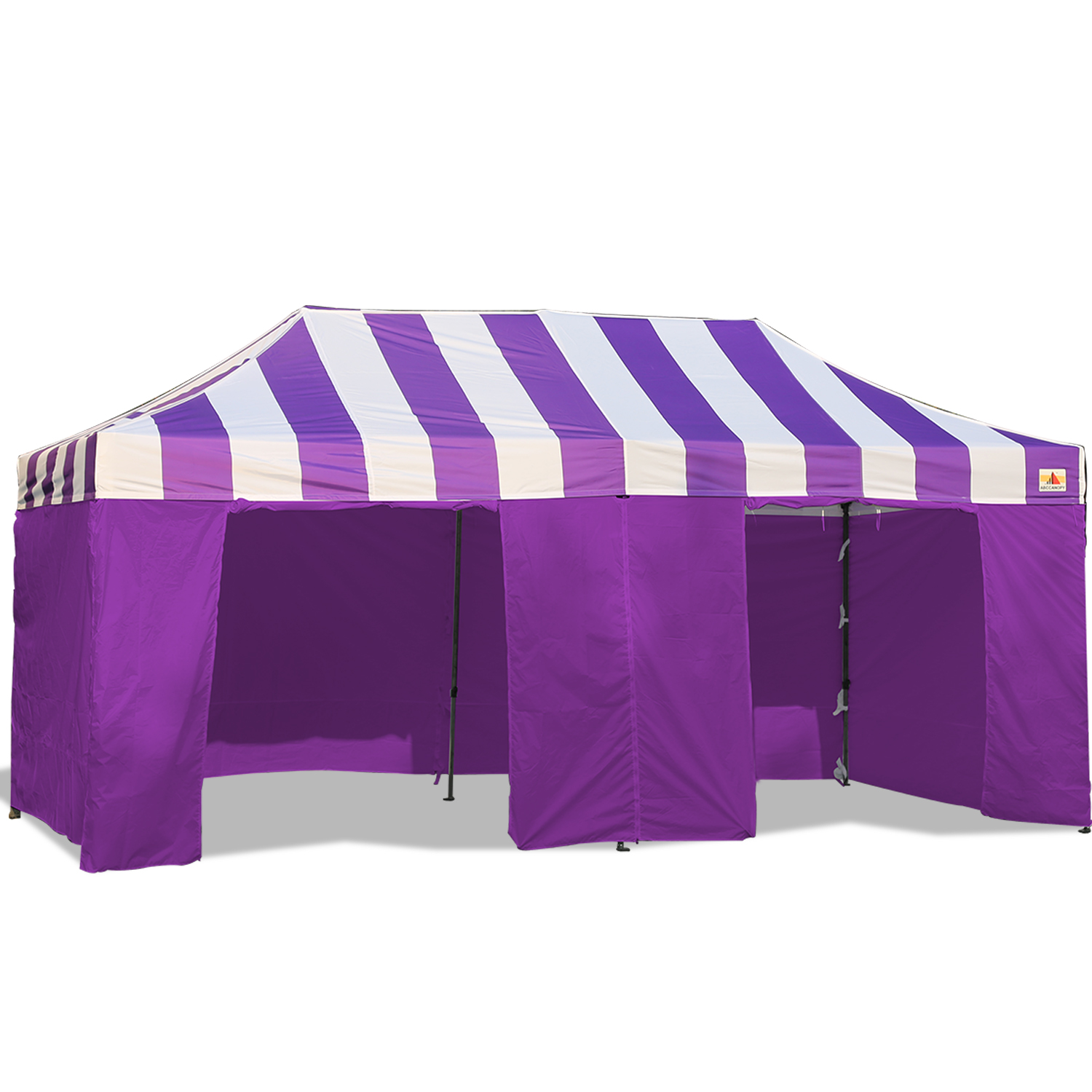Abccanopy Carnival Canopy 10x20 Purple With Purple Walls