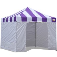 AbcCanopy Carnival Canopy 10x10 Purple With White Walls Ez Part Tent Bouns 6 Walls