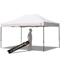 AbcCanopy 10x15 Deluxe White Pop Up Canopy With Roller Bag