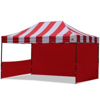 AbcCanopy Carnival 10x15 Red With Red Walls Pop Up Tent Trade Show Booth Canopy W/ Wheeled bag