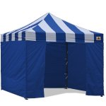AbcCanopy Carnival Canopy 10x10 Blue With Blue Walls Ez Part Tent Bouns 6 Walls
