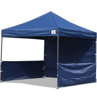 AbcCanopy 10x10 Deluxe Navy Blue Pop Up Canopy Trade Show Both