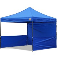 AbcCanopy 10x10 Deluxe Royal Blue Pop Up Canopy Trade Show Both