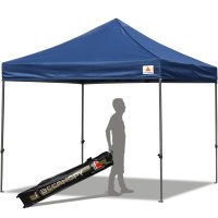 Abccanopy 10x10 Deluxe Navy Blue Pop Up Canopy With Roller Bag