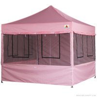 10X10 AbcCanopy Deluxe Pink Food Vendor PackageTent with Roller Bag