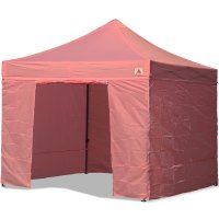 AbcCanopy 10x10 Pink Deluxe Ez Pop Up Canopy Package