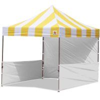 AbcCanopy Carnival 10x10 Yellow With White Walls Pop Up Tent Trade Show Booth Canopy W/ Wheeled bag