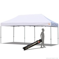 Abccanopy 10x20 PRO-40 White Pop Up Canopy With Roller Bag