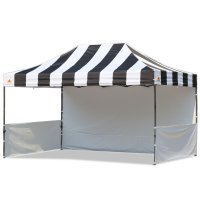 AbcCanopy Carnival 10x15 Black With White Walls Pop Up Tent Trade Show Booth Canopy W/ Wheeled bag