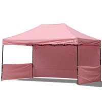 AbcCanopy 10x15 Deluxe Pink Pop Up Canopy Trade Show Both