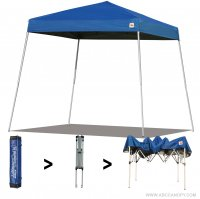 AbcCanopy Commercial Ez Pop Up Canopy Tent 10x10 Slant Leg Instant Canopy With Carry Bag Bonus Weight Bag(Royal Blue)