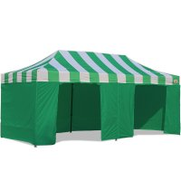 AbcCanopy Carnival Canopy 10x20 Green With Green Walls Ez Part Tent Bouns 9 Wall