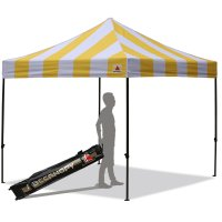 AbcCanopy Carnival 10X10 Yellow And White Pop Up Canopy Popcorn Cotton Candy Vending Tent