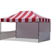 AbcCanopy Carnival 10x15 Red With White Walls Pop Up Tent Trade Show Booth Canopy W/ Wheeled bag