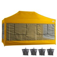 10X15 AbcCanopy Deluxe Gold Food Vendor PackageTent with Roller Bag