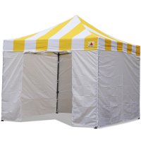 AbcCanopy Carnival Canopy 10x10 Yellow With White Walls Ez Part Tent Bouns 6 Walls