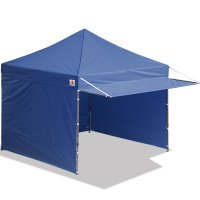 10x10 AbcCanopy Easy Pop up Canopy Tent Instant Shelter Deluxe Portable Market Canopy awning-Navy Blue