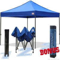 AbcCanopy 10x10 King Kong Royal Blue Canopy Instant Shelter Outdor Party Tent Gazebo with carry bag
