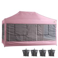 10X15 AbcCanopy Deluxe Pink Food Vendor PackageTent with Roller Bag