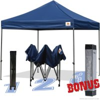 AbcCanopy 10x10 King Kong Navy Blue Canopy Instant Shelter Outdor Party Tent Gazebo with carry bag