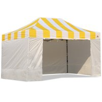 AbcCanopy Carnival Canopy 10x15 Yellow With White Walls Ez Part Tent Bouns 6 Wall