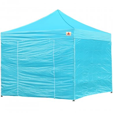 AbcCanopy 8x8 Deluxe Sky Blue Package Tent With Roller Bag