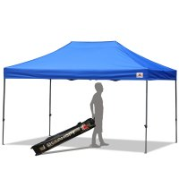 AbcCanopy 10x15 Deluxe Royal Blue Pop Up Canopy With Roller Bag