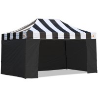 AbcCanopy Carnival Canopy 10x15 Black With Black Walls Ez Part Tent Bouns 6 Wall