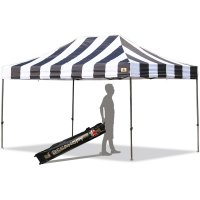 AbcCanopy Carnival 10X15 Black And White Pop Up Canopy Popcorn Cotton Candy Vending Tent