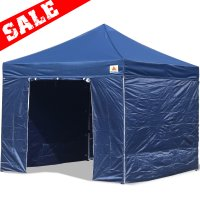AbcCanopy 10x10 Deluxe Navy Blue Ez Pop Up Canopy Package