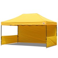 AbcCanopy 10x15 Deluxe Gold Pop Up Canopy Trade Show Both