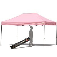 AbcCanopy 10x15 Deluxe Pink Pop Up Canopy With Roller Bag