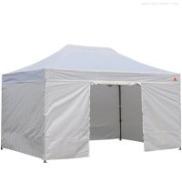 AbcCanopy 10x15 Deluxe White Ez Pop Up Canopy Package-2