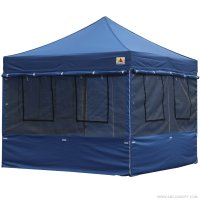 10X10 AbcCanopy Deluxe Navy Blue Food Vendor PackageTent with Roller Bag