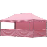 AbcCanopy 10x20 Deluxe Pink Pop Up Canopy Trade Show Both