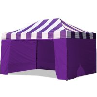 AbcCanopy Carnival Canopy 10x15 Purple With Purple Walls Ez Part Tent Bouns 6 Wall