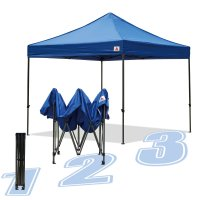 AbcCanopy 10x10 King Kong Royal Blue Canopy Instant Shelter Outdor Party Tent Gazebo