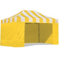 AbcCanopy Carnival Canopy 10x15 Yellow With Yellow Walls Ez Part Tent Bouns 6 Wall