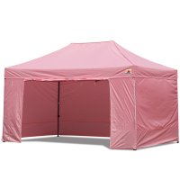 AbcCanopy 10x15 Deluxe Pink Package Tent With Roller Bag