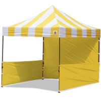 AbcCanopy Carnival 10x10 Yellow With Yellow Walls Pop Up Tent Trade Show Booth Canopy W/ Wheeled bag