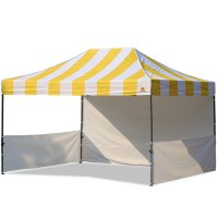 AbcCanopy Carnival 10x15 Yellow With White Walls Pop Up Tent Trade Show Booth Canopy W/ Wheeled bag