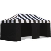 AbcCanopy Carnival Canopy 10x20 Black With Black Walls Ez Part Tent Bouns 9 Wall