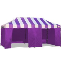 AbcCanopy Carnival Canopy 10x20 Purple With Purple Walls Ez Part Tent Bouns 9 Wall
